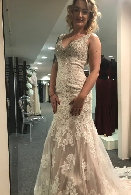 Madison James – Size 8 Fit and Flare dress | Second hand wedding dresses Potts Point - 3