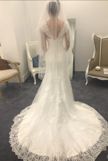 Bridal Secrets – Size 6 Fishtail dress | Second hand wedding dresses Green Valley - 4
