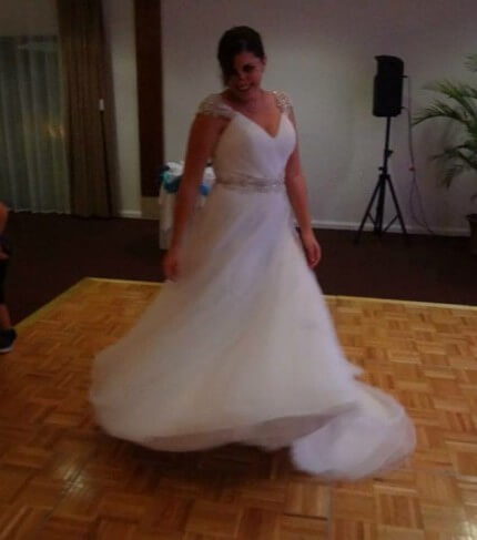 Victoria Jane – Size 12 A-Line dress | Second hand wedding dresses Flinders View - 2