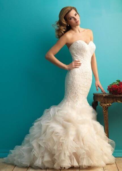 Allure Bridals – Size 10 Fit and Flare dress | Second hand wedding dresses Boambee - Size 10