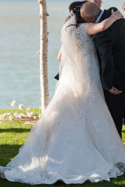 Stella York – Size 18 Fit and Flare dress | Second hand wedding dresses Adelaide - 3