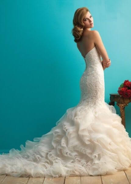 Allure Bridals – Size 10 Fit and Flare dress | Second hand wedding dresses Boambee - 3