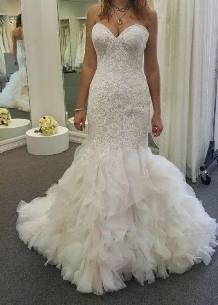 Allure Bridals – Size 10 Fit and Flare dress | Second hand wedding dresses Boambee - 2