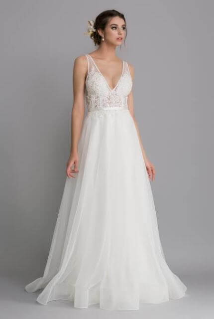 Caleche – Size 8 A-Line dress | Second hand wedding dresses East Melbourne - 7