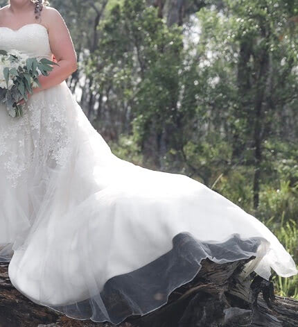 Bespoke / Other – Size 16 A-Line dress   Second hand wedding dresses Lithgow - 2