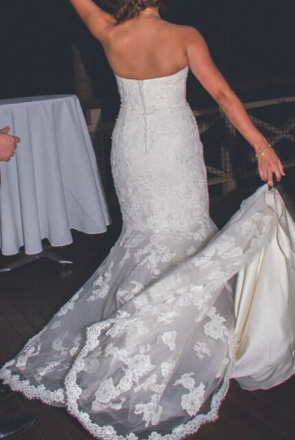 Benjamin Roberts – Size 12 Fishtail dress | Second hand wedding dresses Salisbury - 5
