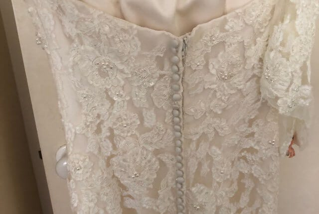 Benjamin Roberts – Size 12 Fishtail dress | Second hand wedding dresses Salisbury - 8