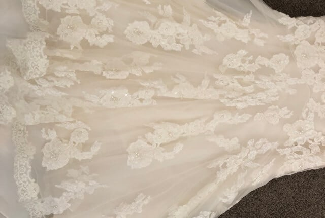 Benjamin Roberts – Size 12 Fishtail dress | Second hand wedding dresses Salisbury - 6