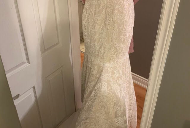 Anne Barge – Size 8 Fit and Flare dress | Second hand wedding dresses Melbourne - 6