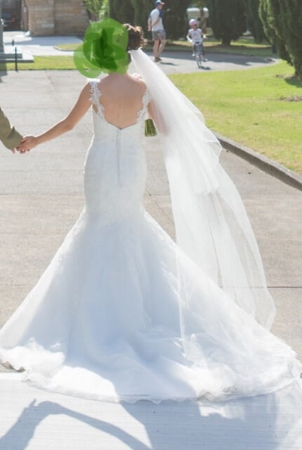 Christina Rossi – Size 6 Fishtail dress | Second hand wedding dresses Brighton-Le-Sands - 4