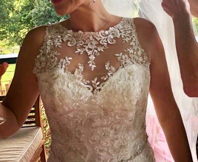 Luv Bridal – Size 10 Fit and Flare dress | Second hand wedding dresses Murarrie - 5