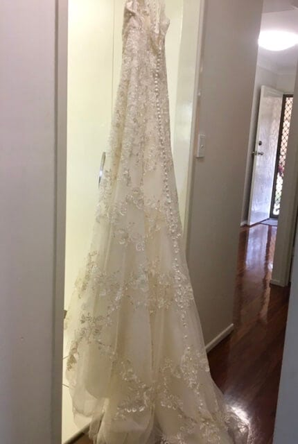 Luv Bridal – Size 10 Fit and Flare dress | Second hand wedding dresses Murarrie - 8