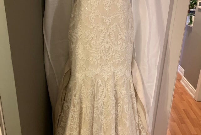 Anne Barge – Size 8 Fit and Flare dress | Second hand wedding dresses Melbourne - 11