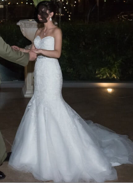 Christina Rossi – Size 6 Fishtail dress | Second hand wedding dresses Brighton-Le-Sands - 2