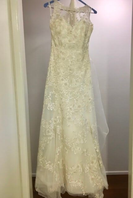 Luv Bridal – Size 10 Fit and Flare dress | Second hand wedding dresses Murarrie - 6