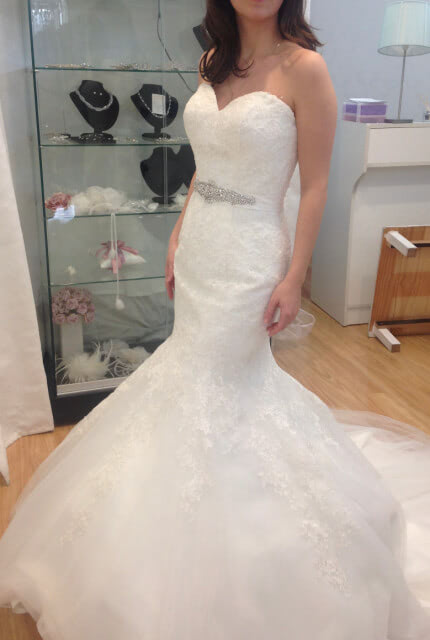 Christina Rossi – Size 6 Fishtail dress | Second hand wedding dresses Brighton-Le-Sands - 3