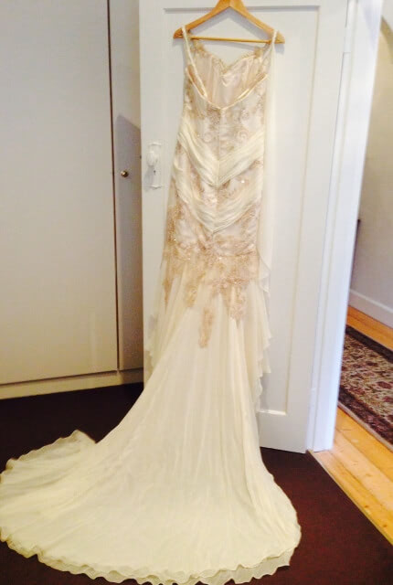 Rose Zurzolo Couture – Size 12 Fit and Flare dress | Second hand wedding dresses Surrey Hills - 2