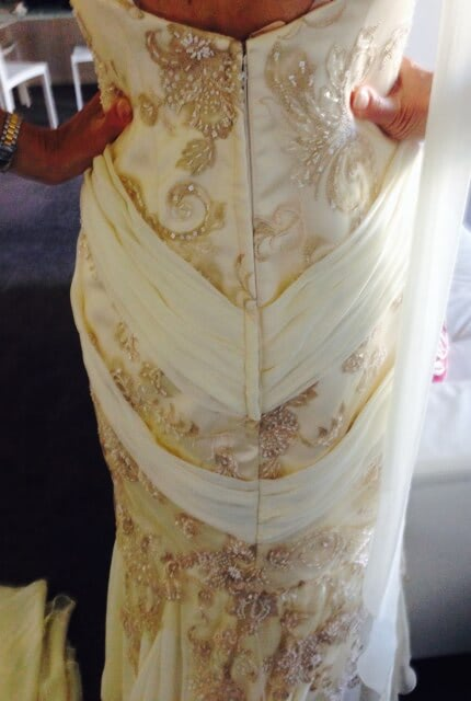 Rose Zurzolo Couture – Size 12 Fit and Flare dress | Second hand wedding dresses Surrey Hills - 4