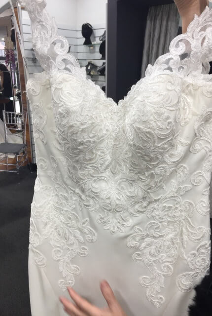 Stella York – Size 14 Fit and Flare dress | Second hand wedding dresses Surrey Hills - 5