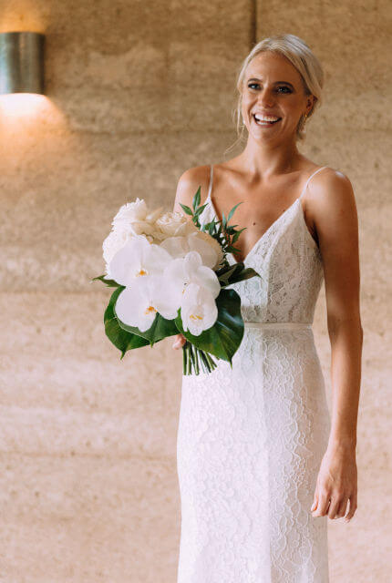 Made With Love – Size 8 A-Line dress | Second hand wedding dresses New Farm - Size 8