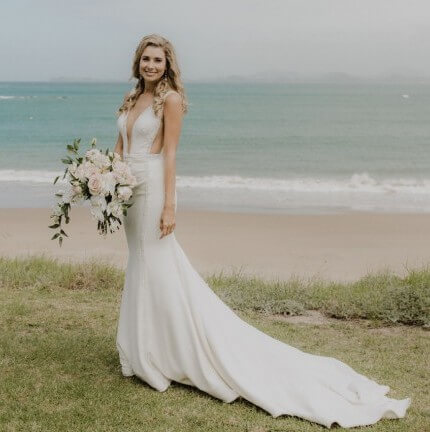 MXM Couture – Size 8 Fit and Flare dress | Second hand wedding dresses Cannon Hill - Size 8