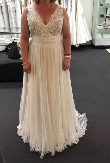 Caleche – Size 14 A-Line dress | Second hand wedding dresses Epping - Size 14