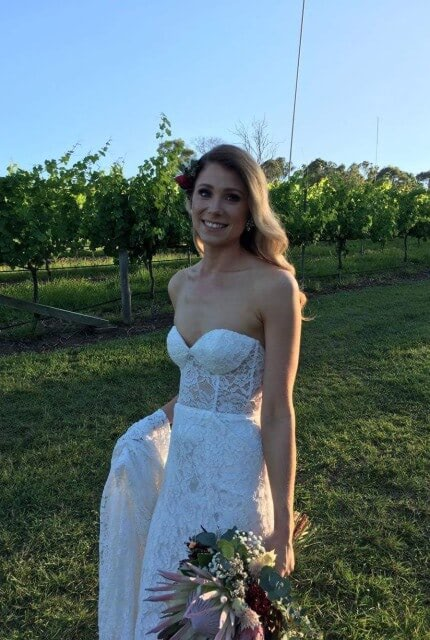Made With Love Bridal – Size 8 Strapless dress | Second hand wedding dresses Carseldine - Size 8