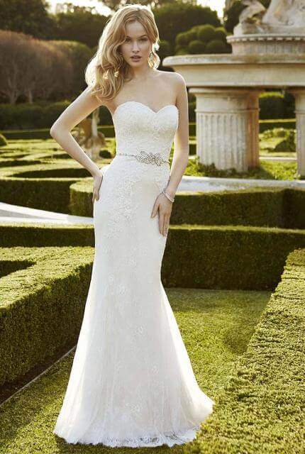 Enzoani – Size 6 Strapless dress | Second hand wedding dresses Oakleigh East - Size 6