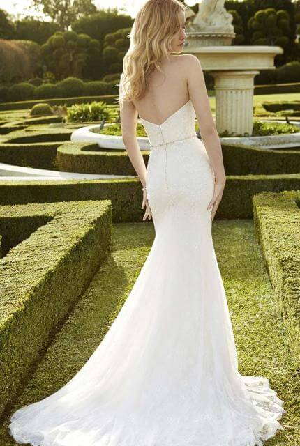 Enzoani – Size 6 Strapless dress | Second hand wedding dresses Oakleigh East - 2