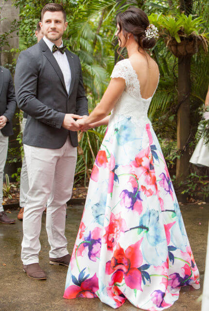 Bespoke / Other – Size 10 A-Line dress | Second hand wedding dresses Rochedale South - 7