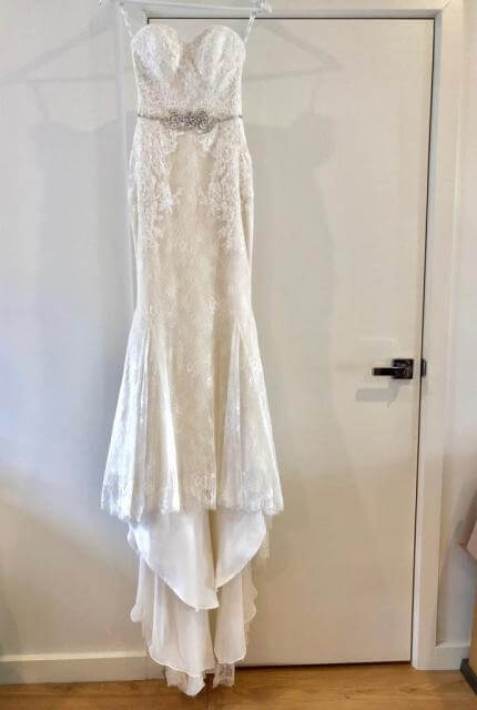 Enzoani – Size 6 Strapless dress | Second hand wedding dresses Oakleigh East - 3