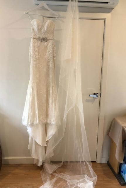 Enzoani – Size 6 Strapless dress | Second hand wedding dresses Oakleigh East - 4