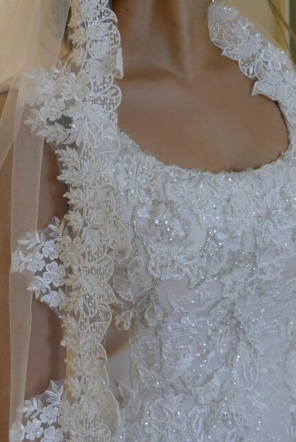 Demetrios – Size 10 Fit and Flare dress | Second hand wedding dresses Hillarys - Size 10