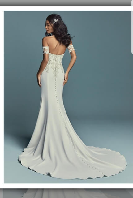 Maggie Sottero – Size 8 Fit and Flare dress | Second hand wedding dresses Sydney - 4