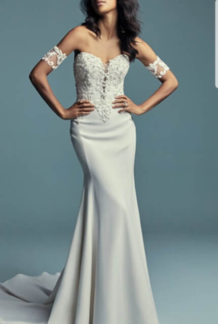 Maggie Sottero – Size 8 Fit and Flare dress | Second hand wedding dresses Sydney - 3