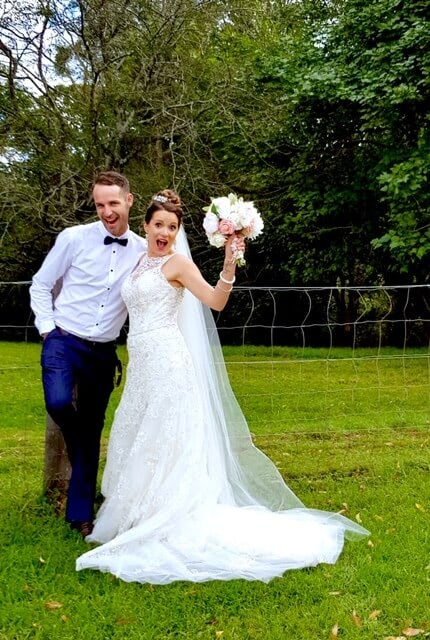 Luv Bridal – Size 10 Fit and Flare dress | Second hand wedding dresses Murarrie - 3