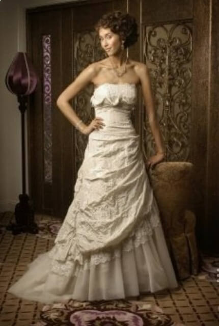 Fiorenza – Size 22 A-Line dress | Second hand wedding dresses Queanbeyan - 7