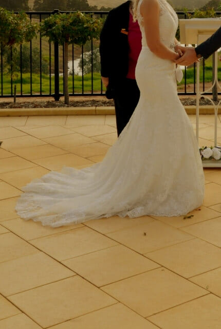 Bespoke / Other – Size 10 Fit and Flare dress | Second hand wedding dresses Bunbury - 3