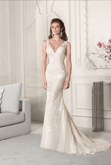 Demetrios – Size 8 Fit and Flare dress | Second hand wedding dresses Rutherglen - Size 8