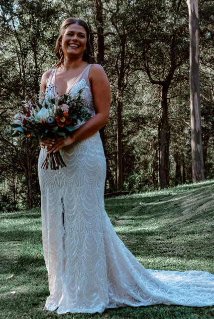 Made With Love Bridal – Size 10 Trumpet dress | Second hand wedding dresses BerkeleyVale - 4