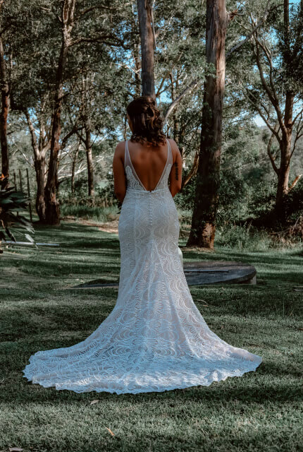 Made With Love Bridal – Size 10 Trumpet dress | Second hand wedding dresses BerkeleyVale - Size 10