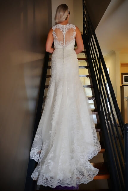 Bespoke / Other – Size 10 Fit and Flare dress | Second hand wedding dresses Bunbury - 4