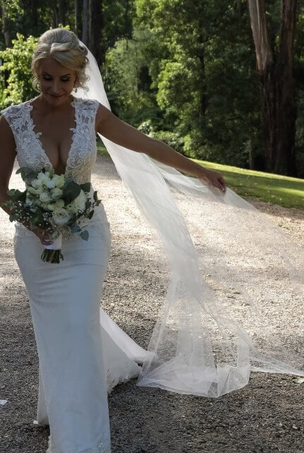 Berta – Size 10 Fit and Flare dress | Second hand wedding dresses Doreen - 4