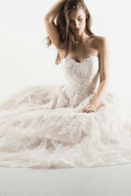 Mia Solano – Size 6 Strapless dress | Second hand wedding dresses Burleigh Heads - 5