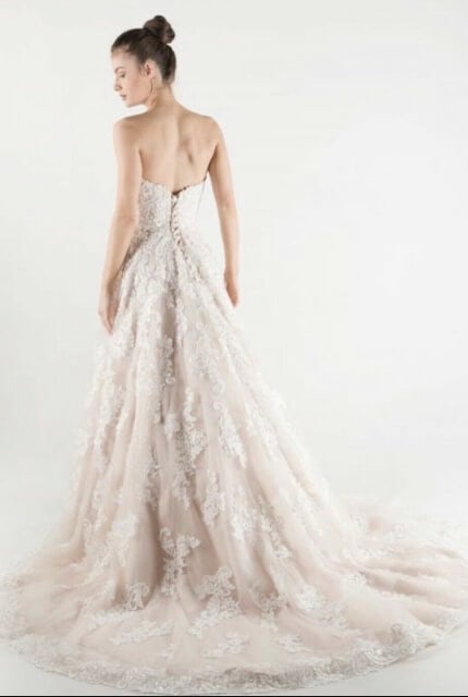 Mia Solano – Size 6 Strapless dress | Second hand wedding dresses Burleigh Heads - 3