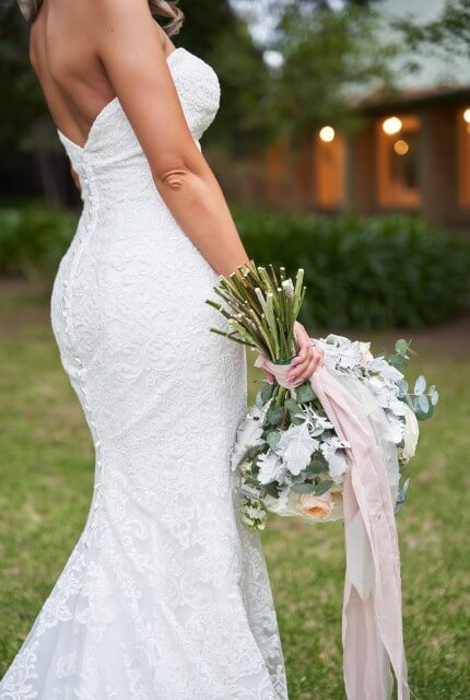 Allure Romance – Size 8 Fit and Flare dress | Second hand wedding dresses Melbourne - Size 8