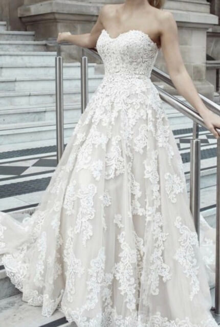 Mia Solano – Size 6 Strapless dress | Second hand wedding dresses Burleigh Heads - Size 6