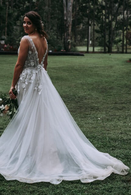 Pina Fiorenza – Size 12 A-Line dress   Second hand wedding dresses Carindale - Size 12