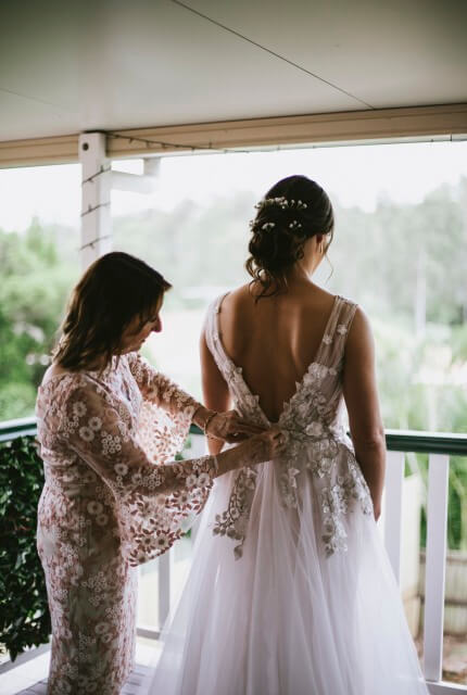 Pina Fiorenza – Size 12 A-Line dress   Second hand wedding dresses Carindale - 3