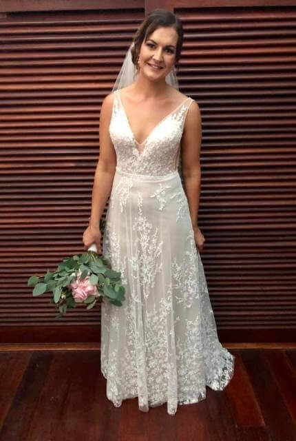 Cizzy Bridal – Size 12 A-Line dress | Second hand wedding dresses Pearsall - Size 12